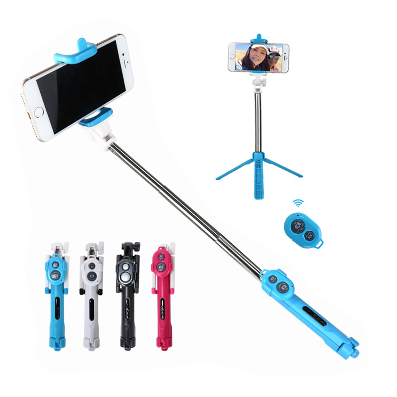 Foldable Bluetooth Shutter Selfie Stick Tripod Monopod Sticks Remote Control Stand Holder For iPhone Xiaomi Android