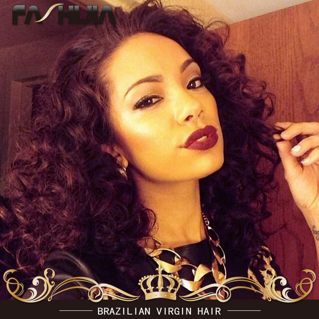 Tangle Free Red Brazilian Hair Deep Wave Wet And Wavy Braiding Virgin