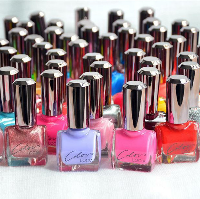 Fashion Candy Color Nail Polish Nude Sequins Manicure Kit Nail Art ...