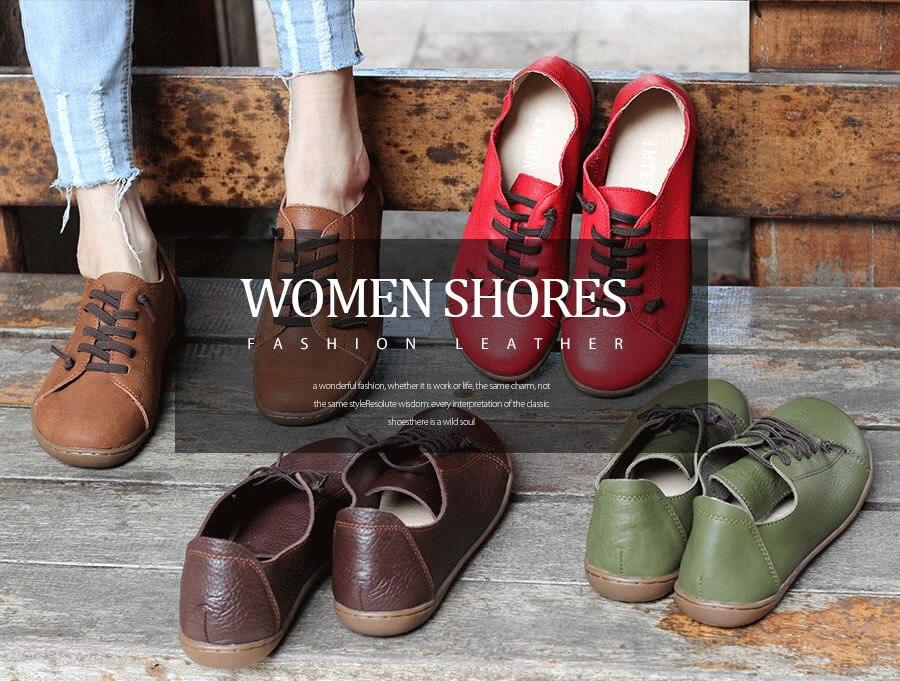 (35-42)Women Shoes Flat 100% Authentic Leather Plain toe Lace up Ladies Shoes Flats Woman Moccasins Female Footwear (5188-6) (35-42)Women Shoes Flat 100% Authentic Leather Plain toe Lace up Ladies Shoes Flats Woman Moccasins Female Footwear (5188-6) HTB1HJ1