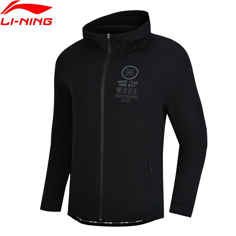 Li Ning Men Wade Series Hoodie Sweater Regular Fit 66 Cotton 34 Polyester Zipper Closure LiNing