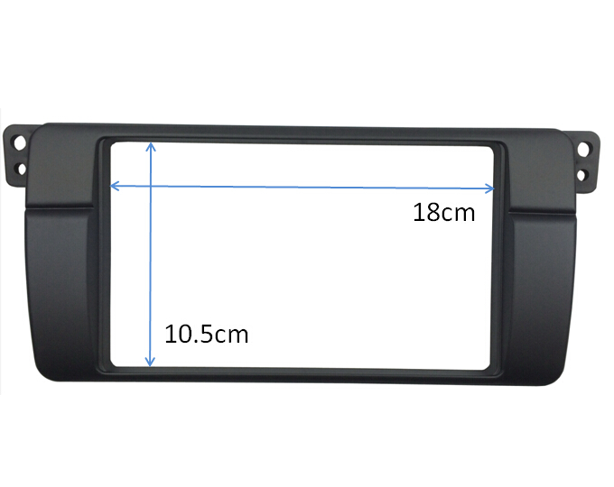 Image 3 - 180*105mm Opening for BMW 3 Series E46 Double Din Fascia Radio DVD Stereo Panel Trim Kit Refitting Installation Frame-in Fascias from Automobiles & Motorcycles
