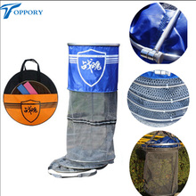 Toppory Durable Fishing Net Diameter 25CM 34CM Stainless Ring Fishing Network Large Mesh For Fish Keeping Carp Fishing Tackle