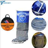 Toppory Durable Fishing Net Diameter 25CM 34CM Stainless Ring Fishing Network Large Mesh For Fish