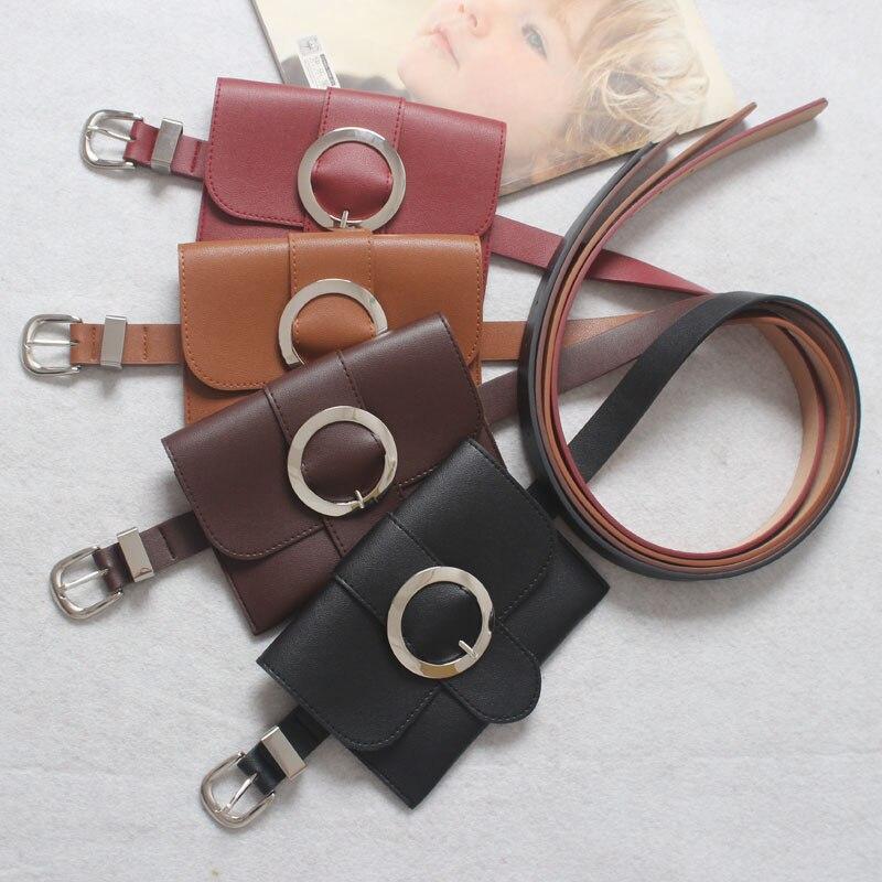 Для женщин талии мешок кольцо пояса Сумки ретро из искусственной кожи Малый fanny pack сотовый телефон кошелек для женского подросток Обувь для …