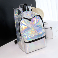 GLHGJP Summer Fresh Women Backpack Laser Hologram Female Large Capacity School Bag For Girls Mochila Sac A Main