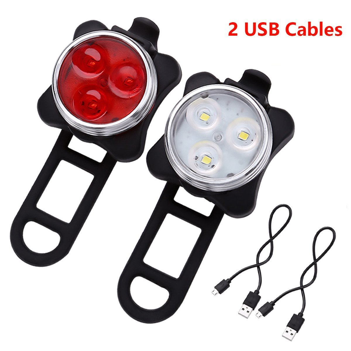 Bicycle Light Built-in Battery Rechargeable USB LED Bike Light Flashlight With Mount Bicycle Accessories