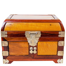 Shengwei process alone board rosewood Jia Jinsi Phoebe Moon jewelry box craft high-grade mahogany mirror box
