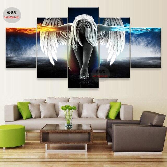 5 Stück Leinwand Kunst Bild Modul Poster Wand Bilder Für Wohnzimmer Malerei  Drucken Moderne Abstrakte Ölgemälde