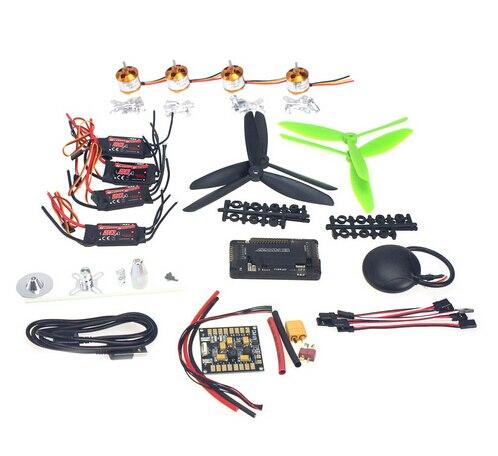 F02047-C 4 axes GPS Mini Drone hélicoptères pièces ARF kit de bricolage: GPS APM 2.8 commande de vol EMAX 20A ESC moteur Brushless