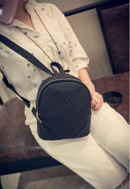 2017 New Female shoulder bag simple casual small backpack  Pu Leather Korean Version fashion trend  Mini Backpack jialante 2017 new lizard leather bag is made of simple small shell bag customized for 15 days