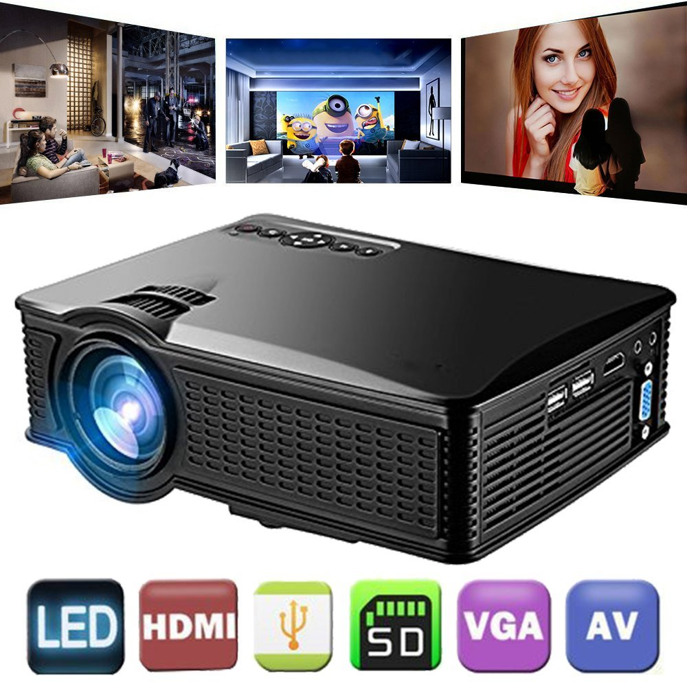 OWLENZ HOT SD50 LCD Mini Projector Home Cinema Theater Movie LED Proyector HD Projectors HDMI USB AV Support 1080P 1500 Lumens