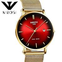 NIBOSI Relojes Hombre Watch Men Fashion Sport Quartz Clock Mens Watches Top Brand Luxury Business Waterproof Stainless Steel