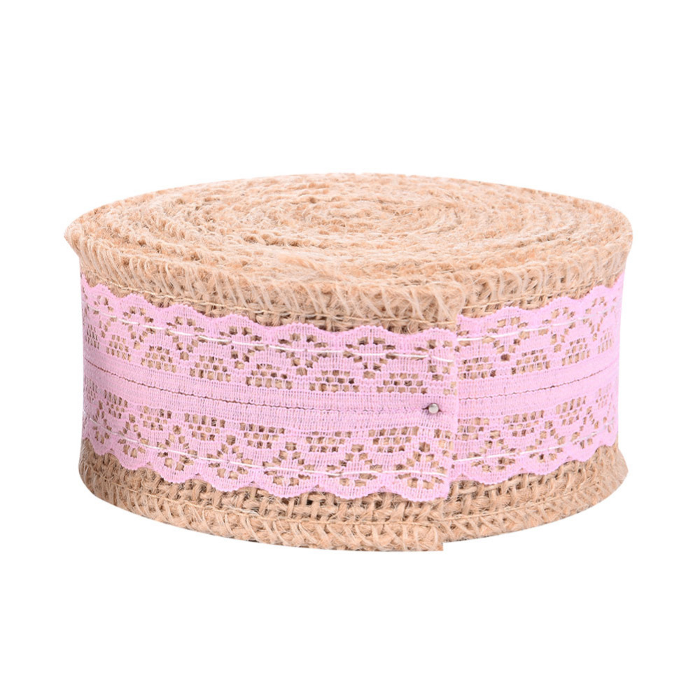 HOT! 5m*4cm Colorful Lace Burlap Roll Vintage Wedding Centerpieces ...