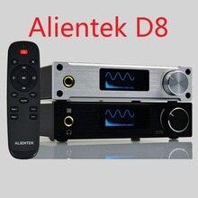 Alientek D8เต็มบริสุทธิ์ดิจิตอลเสียงเครื่องขยายเสียงหูฟังอินพุตUSB/XMOS/C Oaxial/เลนส์/AUX 80วัตต์* 2 24Bit/192กิโลเฮิร์ตซ์DC28V/4.3A OLED