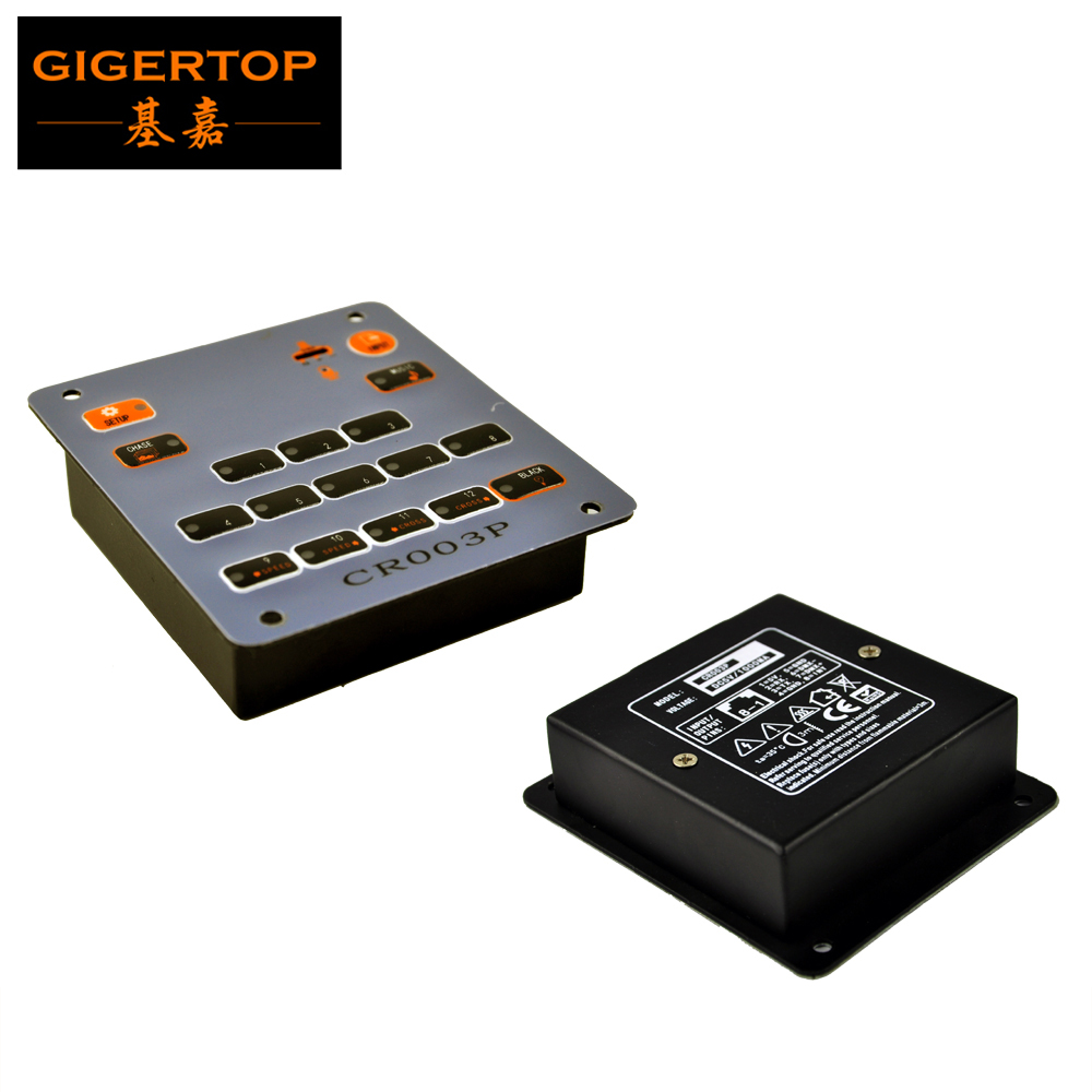 TIPTOP Stage Light TP003P DMX512 Output Universal LED Stage Lighting Controller Console Party Disco DJ 12 Chase Black Function  tiptop sunny 512 dmx stage light controller black color dmx in out equipped led lamp optical isolated independent drive