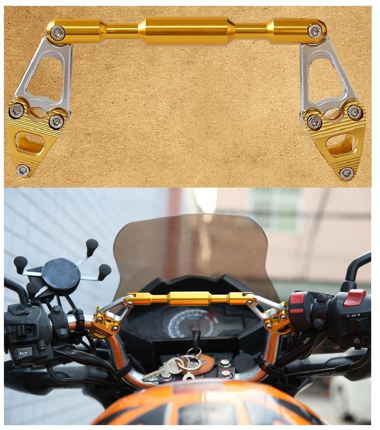 Motorcycle Balance Handlebar Universal Grip Holder Adjustable Aluminium Alloy Motorcycle Balance Cross Handlebar Reinforced Lever Bar