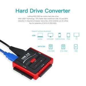 Image 1 - USB 3.0 כדי SATA/IDE מתאם כונן קשיח ממיר מתאם עבור אוניברסלי 2.5/3.5 HDD/SSD קשה כונן דיסק עם אספקת חשמל