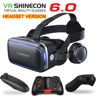 Original VR Shinecon 6 0 Headset Version Virtual Reality Glasses 3D Glasses Headset Helmets Smart Phones