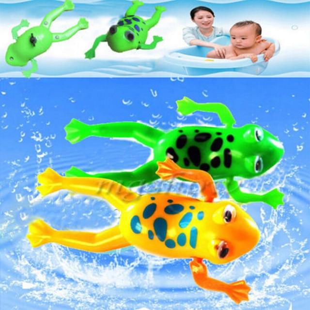 1 Pc Small Animal Baby Bath Toy Swimming Frog Baby Kids Children Clockwork Classic Toys Swim Play Fun Gifts Random Colors