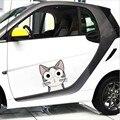 2 Tamanho Adorável Bonito Queijo Gato Personalidade Refective Animal Dos Desenhos Animados Adesivos Decalque Car Styling Acessórios Da Motocicleta