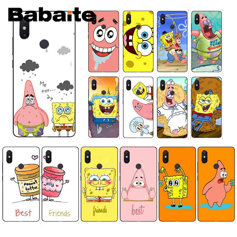 Babaite best friends forever BFF Spongebob Phone Case for Xiaomi Mi 6 Mix2 Mix2S Note3 8 8SE Redmi 5 5Plus Note4 4X Note5 iphone ケース クレヨン しんちゃん glass