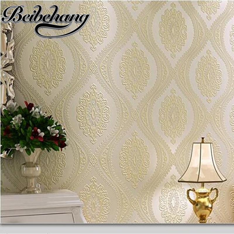 beibehang European non-woven wallpaper 3D relief super thick three-dimensional living room TV backdrop bedroom full of wallpaper beibehang wallpaper 3d three dimensional relief korean garden flower large open living room bedroom full shop wallpaper backdrop