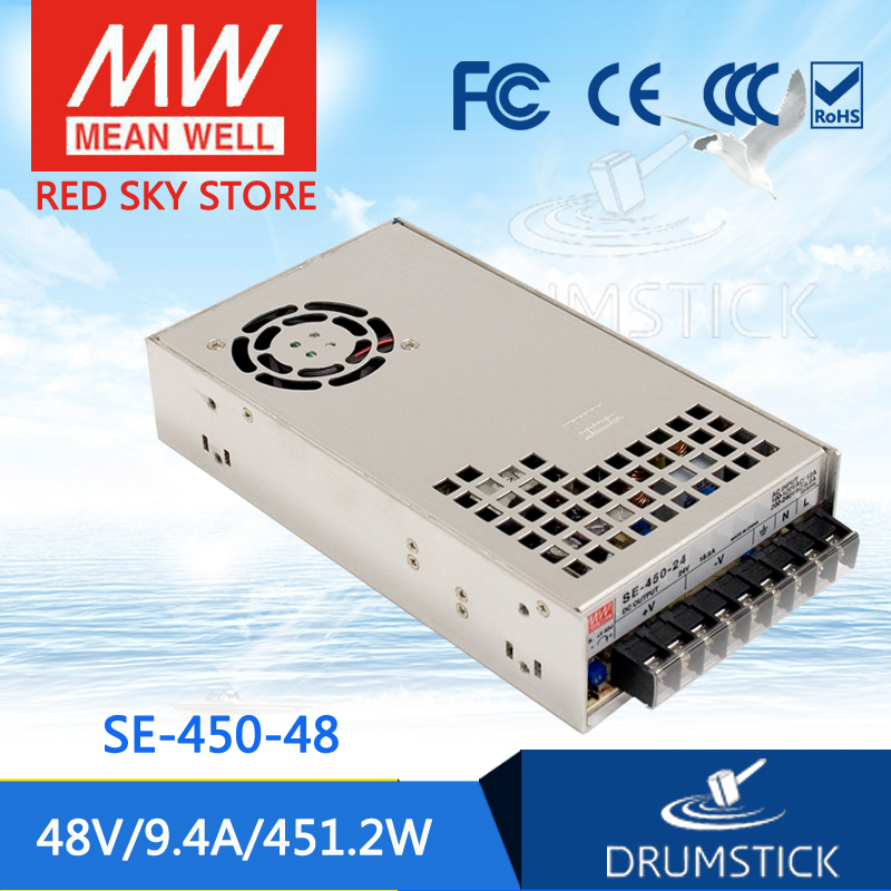 Competitive Products MEAN WELL SE-450-48 48V 9.4A meanwell SE-450 48V 451.2W Single Output Power Supply [Real1] mean well se 450 5 5v 75a meanwell se 450 5v 375w single output power supply [hot8]