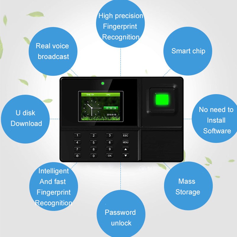 Eseye Biometric Time Attendance System USB Fingerprint Identification Attendance Access Control Employees Device Time Recorder  Eseye Biometric Time Attendance System USB Fingerprint Identification Attendance Access Control Employees Device Time Recorder