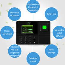 Eseye Biometric Time Attendance System USB Fingerprint Identification Access Control Employees Device Recorder