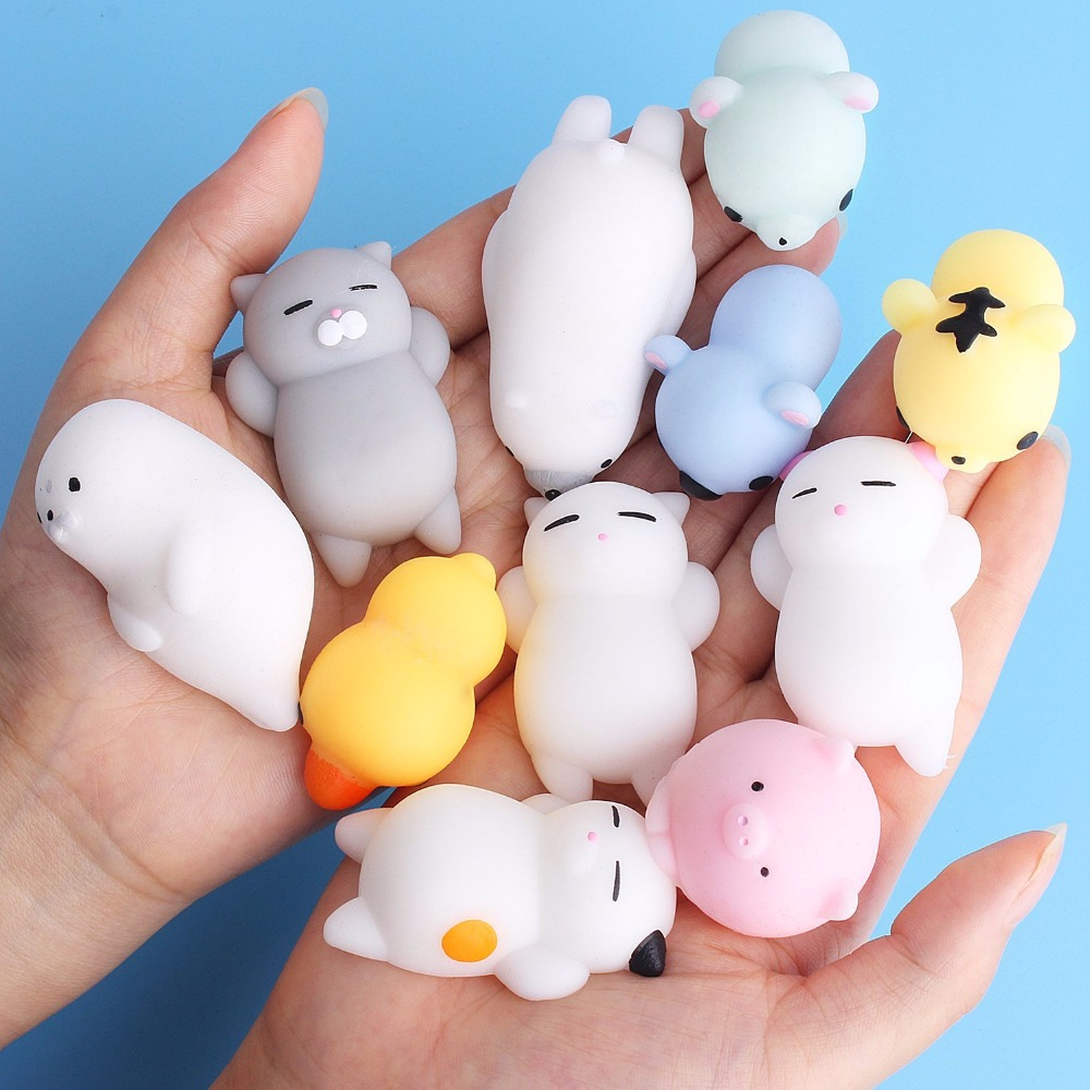 Toy Ball Mochi Stress-Relief Squeeze Rising Sticky Cat Change-Color Funny Soft Squishy Cute