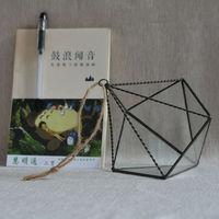 European Environmental Protection Wholesale Succulents Indoor Flower Glass Greenhouse Glass Box Art Glass Vase Flower Bonsai