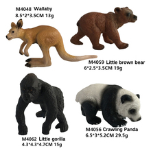 Hot hand-made toys Simulation of solid zoo toy models Wildlife World Set Orangutan crocodile Rhinoceros ostrich Childrens gift