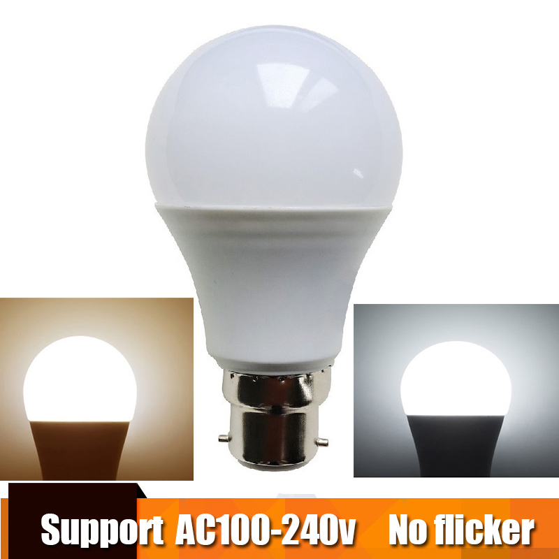 Real Power LED Bulb B22 LED Lampada Ampoule Bombilla 3W 5W 7W 9W 12W 15W LED Lamp 220V 110V Cold/Warm White Led Spotlight no flicker led bulb e27 9w led lamp 15w ac 220v 230v 240v cold white warm white lampada ampoule bombilla led