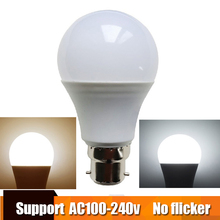 Real Power LED Bulb B22 LED Lampada Ampoule Bombilla 3W 5W 7W 9W 12W 15W LED Lamp 220V 110V Cold/Warm White Led Spotlight