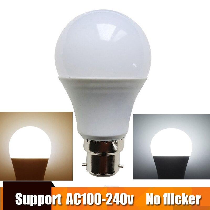 Real Power LED Bulb B22 LED Lampada Ampoule Bombilla 3W 5W 7W 9W 12W 15W LED Lamp 220V 110V Cold/Warm White Led Spotlight