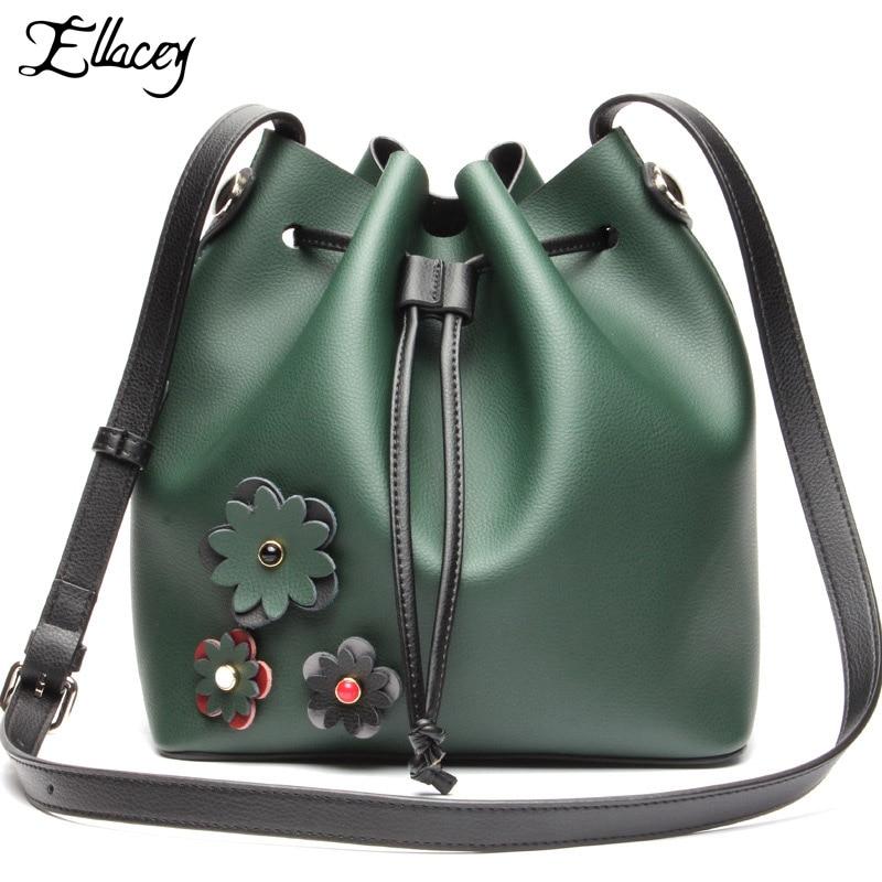 ФОТО 2016 Fashion shoulder bag Designer Fringe Bucket bag Women Genuine Leather HandBag Ladies Messenger Bag Cross Body Purse Satchel