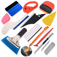 Conjunto de herramientas de vinilo FOSHIO para envolver el coche, escurridor magnético, raspador de fibra de carbono, adhesivo para película, cortador de cuchillos, accesorios para automóvil, tinte para ventana