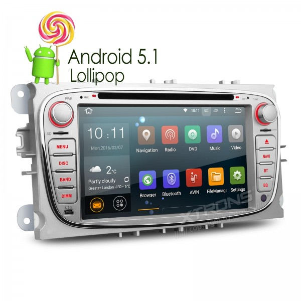 7 Quad Core 64 Bit Android 5.1 Special Car DVD for Ford Focus 2007-2010 & S-Max 2008-2011 & Mondeo 2004-2011 & C-Max 2008-2010