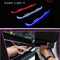 For Mazda 3/6 Axela CX 5 ATENZA car light LED Moving front door scuff sticker Sill Plate pedal protector sticker styling Wh