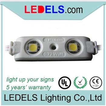 Free shipping 12V 0.72w high lumen module lights for acrylic signs,powered by epistar 5050 led