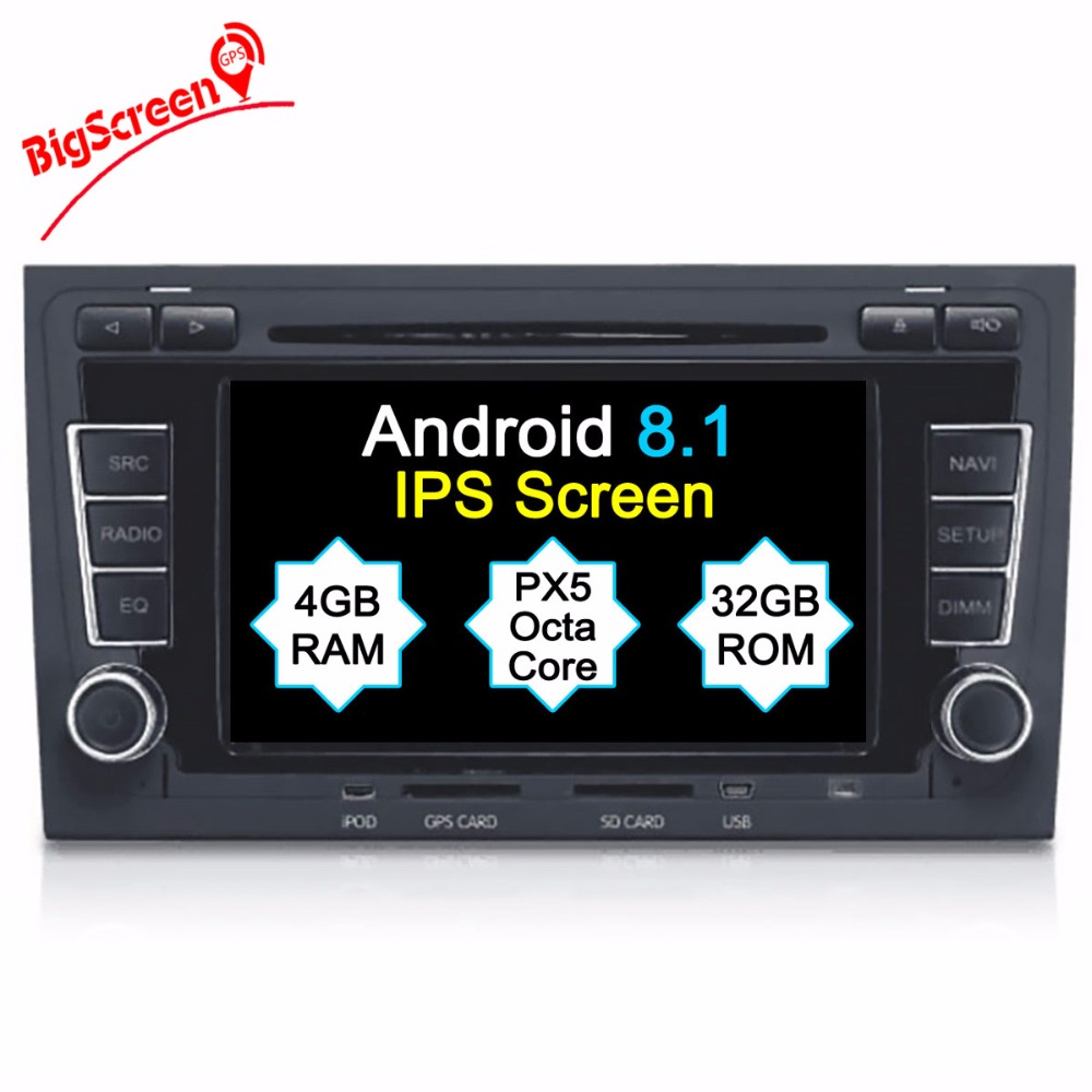 2 DIN Car DVD GPS For Audi A4 S4 RS4 2003 2012 With Dvd