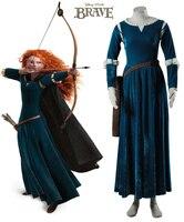 Film Brave Merida Princess Dress Cosplay Costume Custom Made