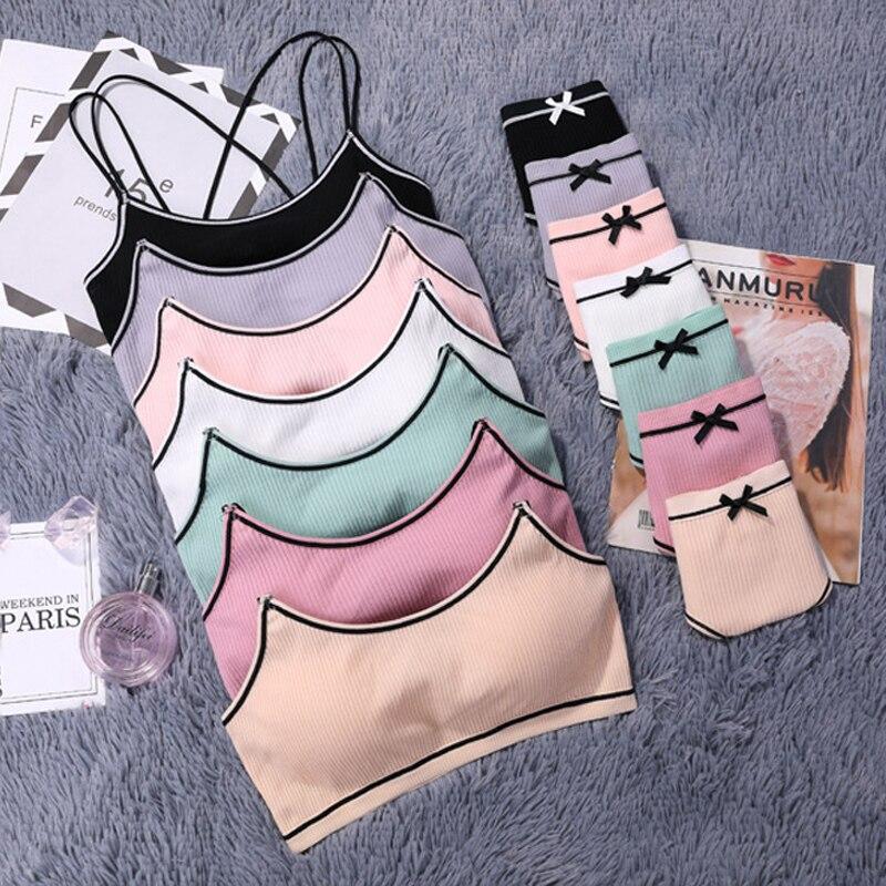 Image 4 - CINOON 3 pieces 2018 High end Brand Romantic Temptation Bra Set Women Fashion Stripes Underwear Set Push Up Bra and Panties Set-in Bra & Brief Sets from Underwear & Sleepwears