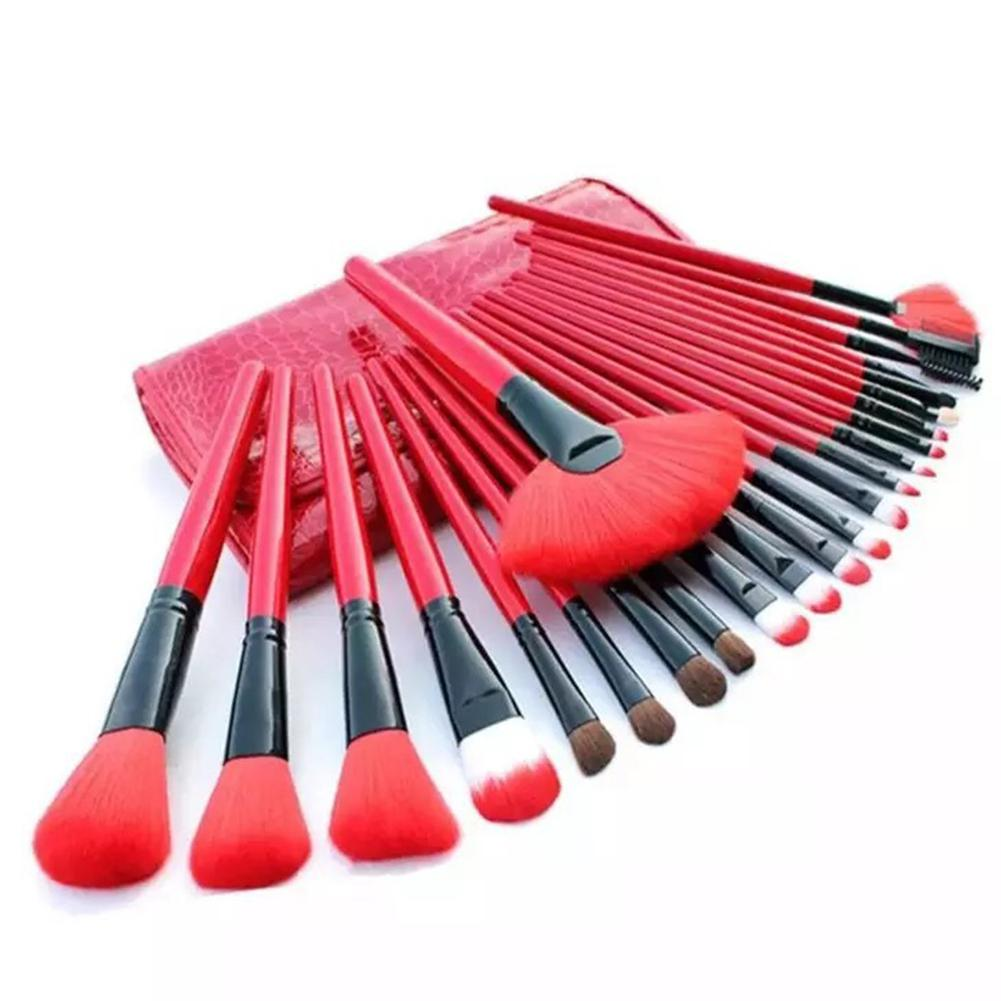 24pcs set Make up Brushes Set Professional Foundation Blending Blusher Eyeshadow Lips Makeup Brushes Cosmetic Tool Brochas in Eye Shadow Applicator from Beauty Health