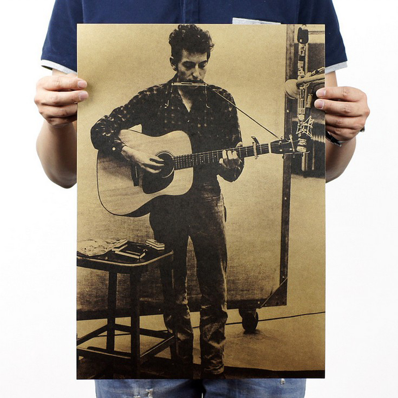 Free Shipping,Bob Dylan/ Ballad Star/classic Nostalgic/Cafe/bar Poster/ Retro Poster/decorative Painting 51x35.5cm
