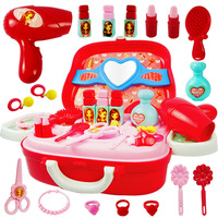 Pretend Play Children's cosmetics simulation little girl dressing table princess makeup non toxic jewelry set girl toys