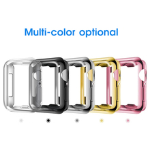 цена на Screen Protector Case for Apple Watch 3 4 2 1 38MM 42MM Soft TPU All-Around Ultra Thin HD Clear Soft Cover for iWatch 44MM 40MM