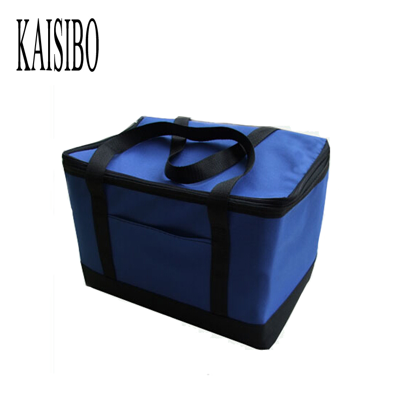 2016 Nueva bolsa de frío aislamiento plegable comida grande Paquetes almuerzo aislamiento bolsa de picnic con aislamiento térmico impermeable bolsa termica