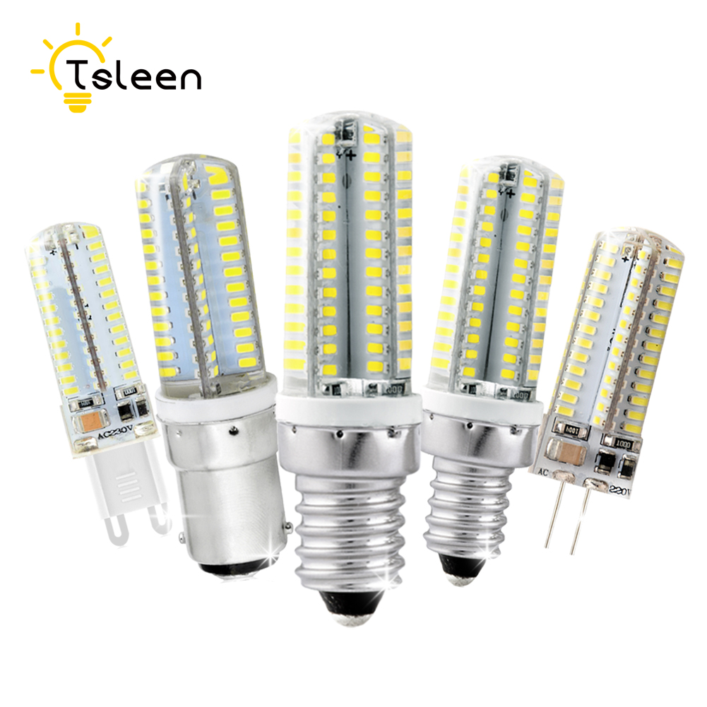 G4 LED Lamp G9 Candle Light E14 B15 E12 Led Corn Bulb AC220V Spotlight SMD3014 3W 5W 6W 7W 9W 360 Degrees Lights for ChandelierG4 LED Lamp G9 Candle Light E14 B15 E12 Led Corn Bulb AC220V Spotlight SMD3014 3W 5W 6W 7W 9W 360 Degrees Lights for Chandelier